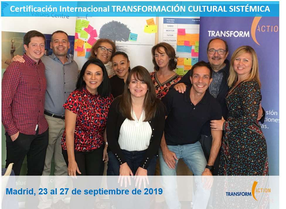 Certificación Transformación Cultural Sistémica Madrid 2019